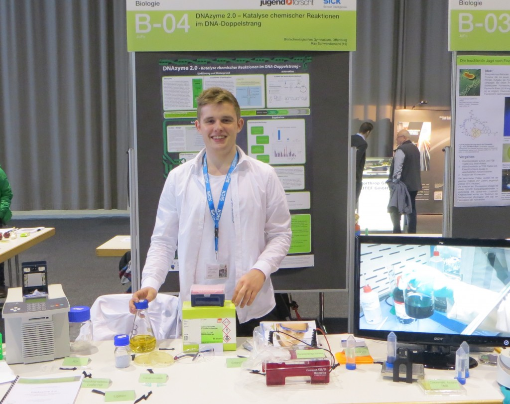 Biologie-Regionalsieger Max Schwendemann